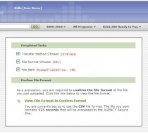 Send File – Confirm File Format